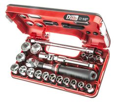 Buy Facom 21 Piece 1/2 in Square Drive Extendable Ratchet Socket Set