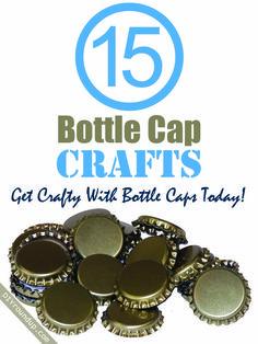 15 Bottle Cap Crafts   DIY Roundup