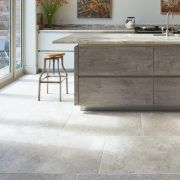 Lucca Limestone wall and floor tiles with their grey tones and tactile velvet finish lend a very contemporary look to home or commercial interiors