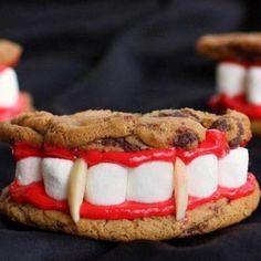 Vampire teeth cookies, not the least bit FRESH, but fun nonetheless!