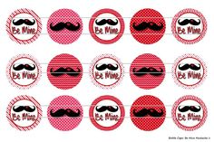 Be Mine Mustache Valentine 1 Digital Download for 1 by MaddieZee
