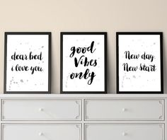 Set of 3 Prints, Inspirational Quotes, Positive Quotes, Quote Prints, Small Prints, Print Set, Last Minute, Christmas Gifts, Printable Quote