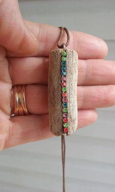 Driftwood chain / Driftwood jewelry / Driftwood pendant / - Jewelry with natural . - Driftwood chain / Driftwood jewelry / Driftwood pendant / – Jewelry with natural … – – - Fabric Jewelry, Boho Jewelry, Pendant Jewelry, Jewelry Crafts, Jewelry Art, Jewelery, Handmade Jewelry, Jewelry Design, Fashion Jewelry