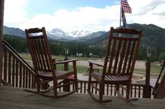 I Love the YMCA of the Rockies and have spent many hours over the years sitting on this porch. One of my favorite places and views!