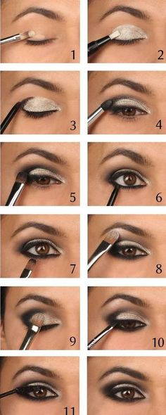 Makeup Ideas For Prom - Intense Metallic Smokey Eye Tutorial - These Are The Bes. Makeup Ideas For Prom - Intense Metallic Smokey Eye Tutorial - These Are The Best Makeup Ideas For Prom and Ho Makeup Guide, Eye Makeup Tips, Makeup Hacks, Beauty Makeup, Makeup Ideas, Top Beauty, Beauty Tips, Natural Beauty, Beauty Tutorials