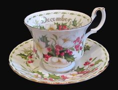 Royal Albert Christmas Rose Tea Cup and Saucer  by lmtiques