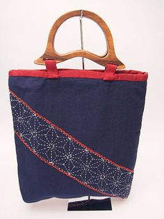 HANDMADE with love, no other like it! Sashiko embroidery Bag Sashiko is a form of Japanese folk embroidery using a variation of running stitch to create a patterned background. The Japanese word sashiko means little pierces and refers to the small stitches used in this form of