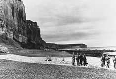 Heavy mortars of Hitler's Army are set in position under cliffs on the French side of the English Channel, at Fecamp, France, in 1940, as Germany occupied France and the low countries. (AP Photo)