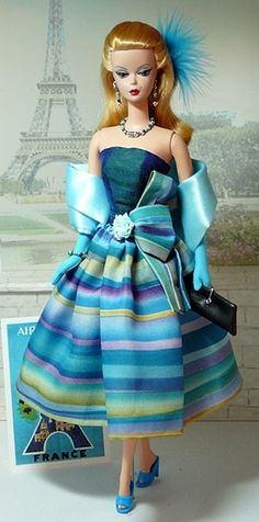 Beautiful Silkstone Barbie, Cocktail Dress | Donnas Doll Designs