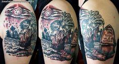 Tatuaje hecho por Juanjo, de Asturias (España). Si quieres ponerte en contacto con él para un tatuaje o ver más trabajos suyos visita su perfil: http://www.zonatattoos.com/tatusella13    Si quieres ver más tatuajes de zombis visita este otro enlace: http://www.zonatattoos.com/tatuaje.php?tatuaje=105717