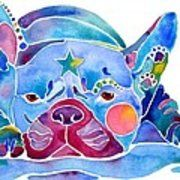 Whimzical French Bulldog  Poster by Jo Lynch