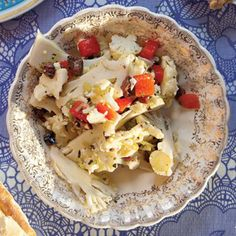 This briny mix of cauliflower and olives is a refreshing starter salad for a rich meal.