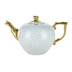 Herend Fish Scale Teapot. (Gorgeous.. and I'm pretty sure this is special order only...)
