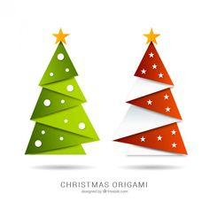 Risultato immagine per origami faltanleitungen weihnachten Pop Up Christmas Cards, Origami Christmas Tree, Paper Christmas Ornaments, Handmade Christmas Decorations, Christmas Projects, Kids Christmas, Tree Decorations, Merry Christmas, Vector Christmas