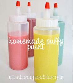DIY Puffy Paint [Activities for Kids] ~ Be Different...Act Normal