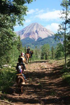 a little horse ride in colorado!