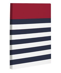 Take a look at this Red & Navy Nautical Canvas Wall Art by OneBellaCasa on #zulily today!