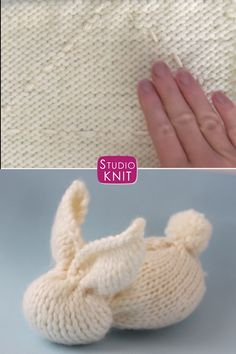 Knit a Bunny from a Square from the easy garter knit stitch pattern! Knit a toy Bunny from a Square from my easy knitting pattern. From just a knitted square, enjoy making a stuffed softie for beginning knitters. Knitting Videos, Crochet Videos, Loom Knitting, Knitting Stitches, Free Knitting, Knitting Projects, Baby Knitting, Crochet Projects, Easy Knitting Patterns