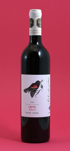 wine label package design