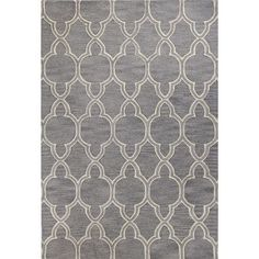 Found it at Joss & Main - Callina Grey Geometric Wool Hand-Tufted Area Rug