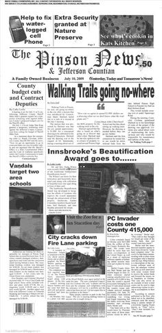 The Pinson News and Jefferson Countian (Pinson, Alabama) newspaper archive