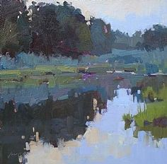 "Jill Carver ""Sunrise Papermill Pond"""