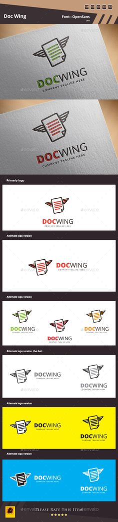 Doc Wing Logo Template