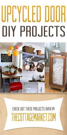 Upcycled Door DIY Projects - The Cottage Market Laundry hamper Recycled Door, Repurposed Doors, Diy Recycle, Diy Door, Old Doors, Diy Furniture, Reclaimed Furniture, Upcycled Furniture, Home Projects