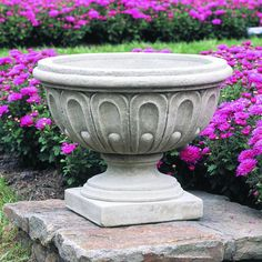 Have to have it. Campania International Longwood Fluted Cast Stone Urn Planter - $244.99 @hayneedle