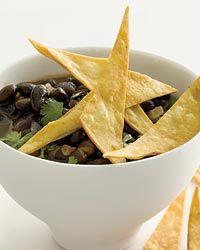 Black Bean Soup with Crispy Tortillas Recipe on Food & Wine