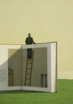 Man on a Ladder by Quint Bucholz