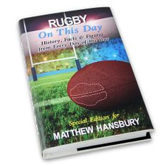 Personalised Rugby on this Day Book  from Personalised Gifts Shop - ONLY £14.99