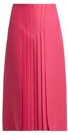 9b72d95baa19 Pleated silk and wool-blend skirt   Valentino   MATCHESFASHION.COM US