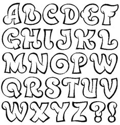 Alphabet A, Fonte Alphabet, Hand Lettering Alphabet, Graffiti Alphabet, Bubble Letters Alphabet, Doodle Alphabet, Fancy Letters, Cute Fonts Alphabet, Caligraphy Alphabet