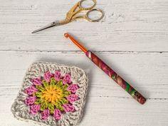 Crochet hook, size (US size I), polymer clay Fimo covered aluminium hook Crochet Hook Sizes, Crochet Hooks, Sock Yarn, Hand Dyed Yarn, Crochet Gifts, Really Cool Stuff, Polymer Clay, Handmade Items, Pattern