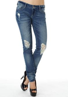S&P By Standard & Practices Destructed Skinny Jean  #skinny #vintage #distressed #jean #alloy #alloyapparel http://www.alloyapparel.com/product/s-p+by+standard+-+practices+destructed+skinny+jean+174740.do?sortby=ourPicks