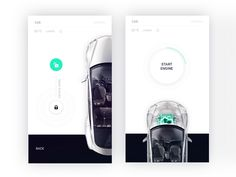 Tesla control center for Smart Home app by Fantasy by Gleb Kuznetsov✈ - Dribbble