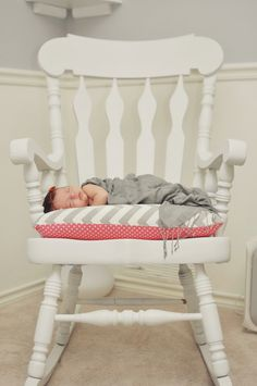 Team Patterson Triplet S Nursery C Lime Green And Gray Chevron Diy Rocking Chair With Cushion