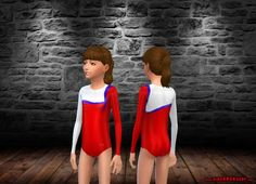 FV Red, White & Blue Ribbon Mystique Gymnastics Leotard by FrankVjecy at Mod The Sims via Sims 4 Updates Sims 4 Teen, Sims 4 Toddler, My Sims, Sims Cc, Little Girl Outfits, Outfits For Teens, Sims 4 Children, Sims 4 Game, Sims 4 Update