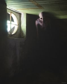 "That Space In Between on Twitter: ""The darkness in the corner is a doorway.… "" Scary Photos, Creepy Images, Creepy Pictures, Arte Punk, Dark Creatures, Creepy Art, Dark Photography, Dark Fantasy Art, Horror Art"