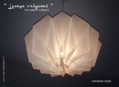 DIY lampe origami papier calque