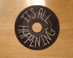 It's All Happening - Almost Famous / Penny Lane inspired Painted Vinyl Record by valderie on Etsy, $14.00