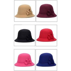 2d7da299 Bluelans Women Winter Hats For Women 1920s Vintage Fedora Bowler Bucket Hat  Packable: Amazon.co.uk: Clothing