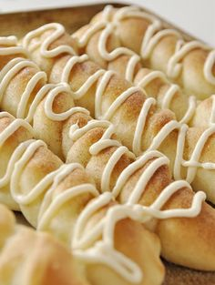 Cinnamon Sugar Breadsticks with Cream Cheese Drizzle