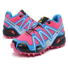 RSS Product Feed :: Chaussures Salomon Femme Speedcross 3 Rose Cyan Bleu Ciel Noir