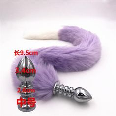 fcdaaffb0 Long 80cm Purple And White Fox Tail Anal Plug Metal Sex Toy Anal Toys  Erotic Butt Plug Sex Toys for Woman And Men Sexy Adult • Butt Plug • Tictail