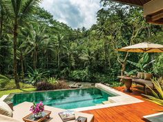 Four Seasons Resort Bali at Sayan Sayan, Indonesia Honeymoon Jungle Luxury Pool tree swimming pool property Resort backyard Villa eco hotel Garden colorful