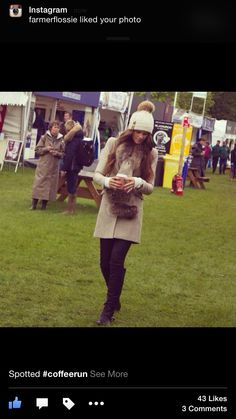 Featuring the nude Chelsea coat and bobble hat