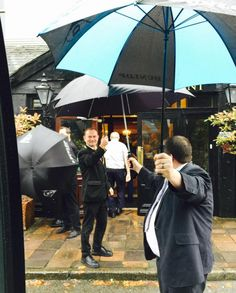 We love this picture, taken by a coach driver this week. #customerservice #muckrossparkhotel #umbrellatunnel