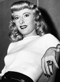 Barbara on the set of Double Indemnity, 1944